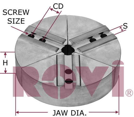 For  Diameter Chuck Full Circle Jaw With