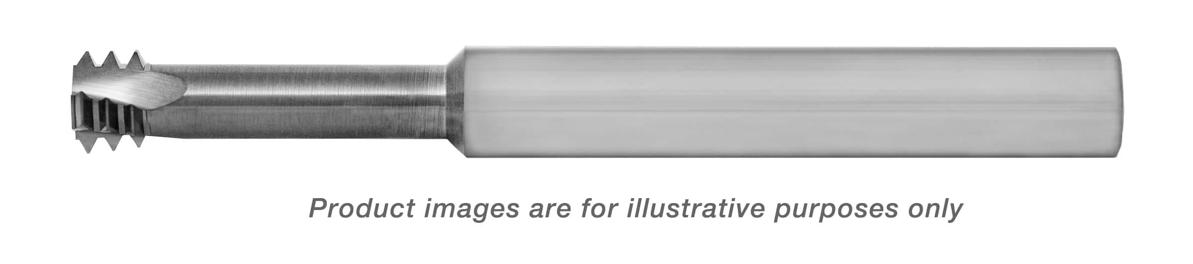 LONG REACH THREAD MILL CARBIDE ALTiN (M8-1 PITCH) INTERNAL .234 DIA X .850-NECK (1/4 SHANK) 2-1/2 OAL