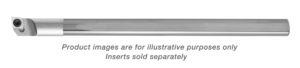 CARBIDE SHANK LEFT HANDED 0 DEGREE LEAD BORING BAR WITH FLAT 0.300 MIN HOLE 0.250 SHANK DIA 4.0 OAL T6+KEY T6+SCREW