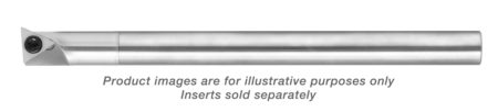 CARBIDE SHANK LEFT HANDED 5 DEGREEREE LEAD ANGLE BORING BAR WITH FLAT 0.560 MIN HOLE 0.500 SHANK DIA 6 5/8 OAL T8+KEY T8+SCREW