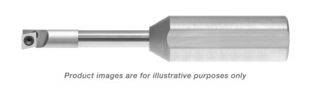 CARBIDE SHANK RIGHT HANDED STEP 0 DEGREE LEAD BORING BAR WITH FLAT 0.220 MIN HOLE 0.500 SHANK DIA 2.800 OAL T6+KEY T6+SCREW