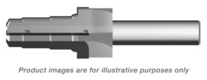 EATON VICKERS 3 WAY CARBIDE TIPPED ROUGHER ALTiN COATED - 0.750 SHANK 6.25 OAL - TWO COOLANT HOLES PER FLUTE